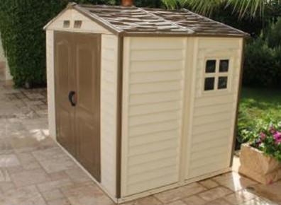 Abri de jardin PVC woodstyle : PORT 0€ !