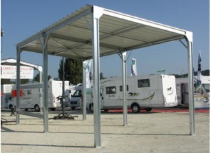 ABRI CAMPING CAR METALLIQUE     4.00 M X 8.00 M