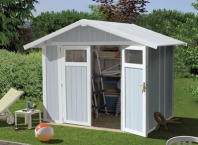 Abri jardin PVC UTILITY 4.9 BLEU 2,42 x 2,02 m