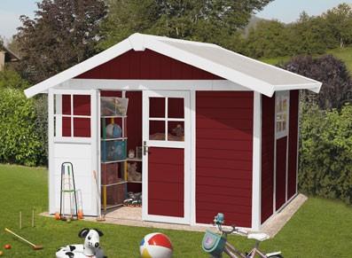 Abri jardin PVC DECO 7.5 ROUGE 3,15 x 2,39 m