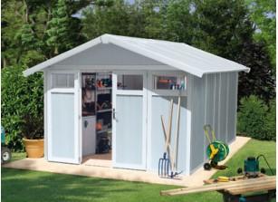 Abri jardin PVC utility 11 BLEU 3,15 x 3,55 m