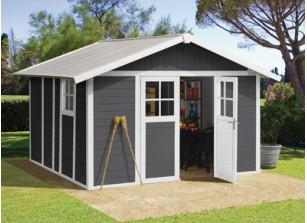Abri jardin PVC DECO 11 GRIS 3,15 x 3,55 m