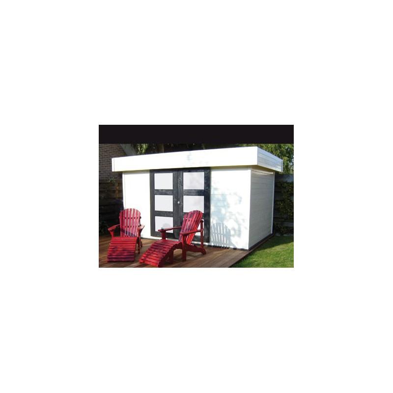 abri de jardin moderne avec portes coulissantes. Black Bedroom Furniture Sets. Home Design Ideas