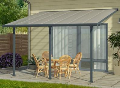 Couverture terrasse aluminium polycarbonate