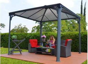 pergola tonnelle de jardin offrez vous un salon en plein air promo france abris. Black Bedroom Furniture Sets. Home Design Ideas