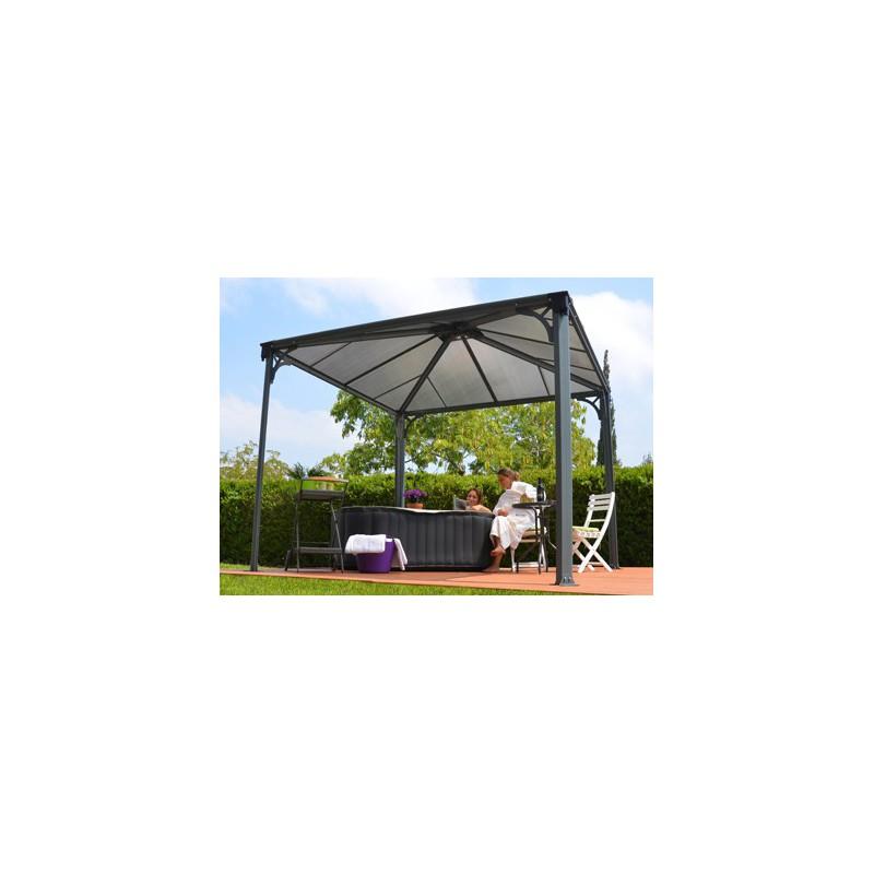 tonnelle couverture terrasse en aluminium 3 x 3 m. Black Bedroom Furniture Sets. Home Design Ideas