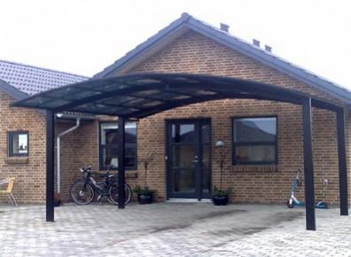 Carport En Aluminium Novoferm Toit Polycarbonate Fum 233