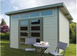 Abri de jardin en bois à toit plat - FRANCE ABRIS