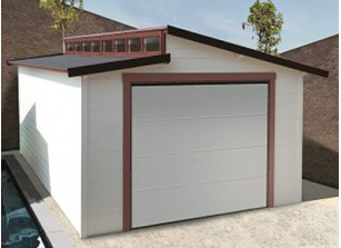 Garage bois madriers 28 mm 3.60 x 5.70 m