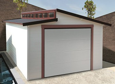 Garage bois madriers 28 mm 3.60 x 5.70 m