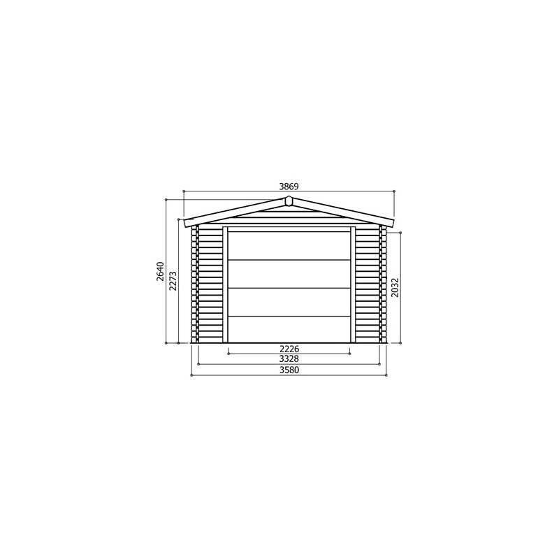 garage madriers 40 mm x m avec porte motoris e. Black Bedroom Furniture Sets. Home Design Ideas