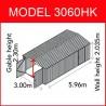GARAGE METAL GRANDE HAUTEUR  3,0 x 6,0 M
