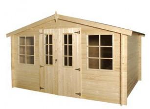 Abri de jardin bois m/m 28 mm :::::  4,05 x 3,01 m