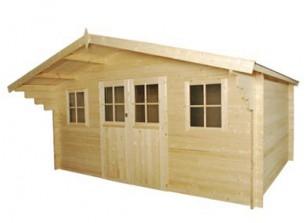 Abri de jardin bois m/m 34 mm :::::  4,65 x 5,11 m