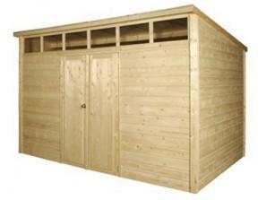 Abri de jardin en bois avec madriers d\'une épaisseur de 28 mm ...