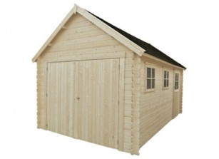 GARAGE BOIS MADRIER 28 MM 3,40 x 5,41 M