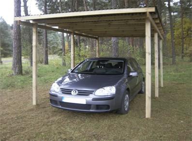 CARPORT BOIS AUTOCLAVE L304 x P500 cm