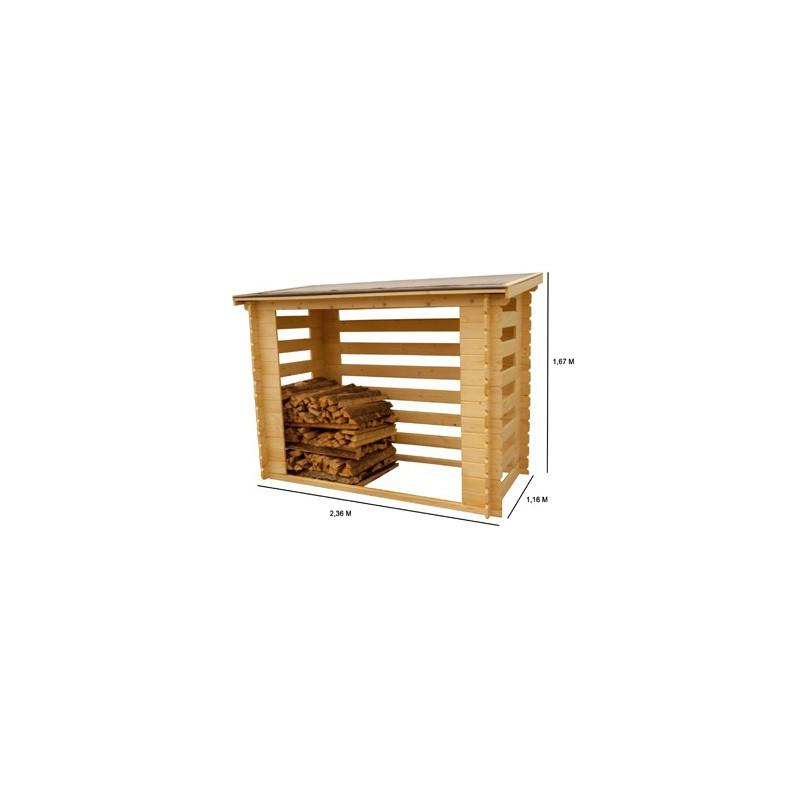 Abri b che rangement bois de chauffage 4 st res - Rangement bois chauffage ...