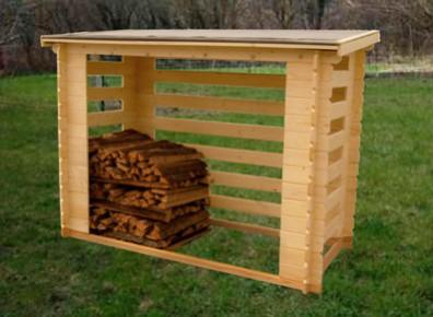 Abri b che rangement bois de chauffage 4 st res - Rangement buches exterieur ...