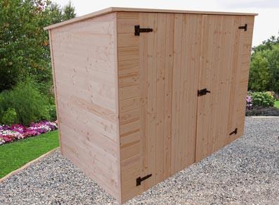 Abri en bois pour vélos ou motos 2,20 x 1,25 m