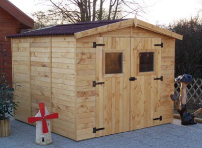 abri jardin bois avec plancher 2,70 x 2,67 m