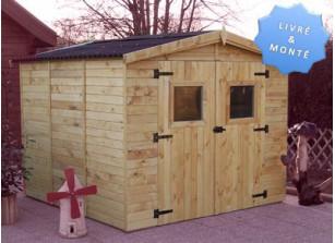 abri jardin panneaux bois 16mm montage inclus
