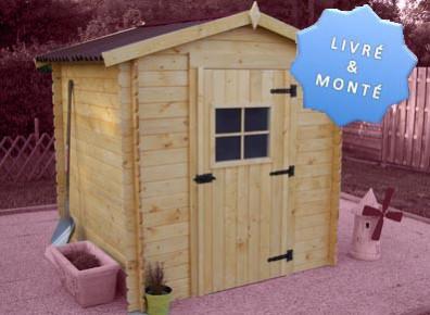 abri de jardin en bois madrier 20 mm 2 05 x 1 99 m. Black Bedroom Furniture Sets. Home Design Ideas