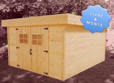 abri de jardin en bois toit acier montage inclus. Black Bedroom Furniture Sets. Home Design Ideas