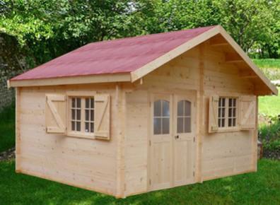abri de jardin en bois madrier 42 mm double rainurage