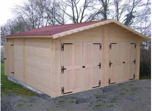 GARAGE DOUBLE BOIS MADRIER 42 MM :::: 6.35 x 6.64 M