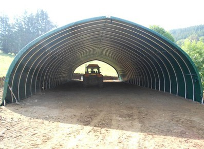 TUNNEL DE STOCKAGE FORME OGIVE 10 x 24 M