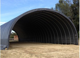 ABRI TUNNEL PVC FORME ARRONDIE