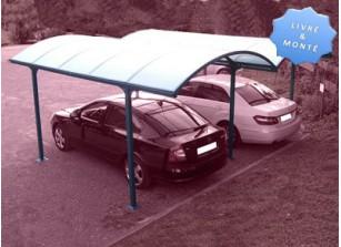CARPORT DOUBLE TOIT 1/2 ROND ::  6,84 X 6 M