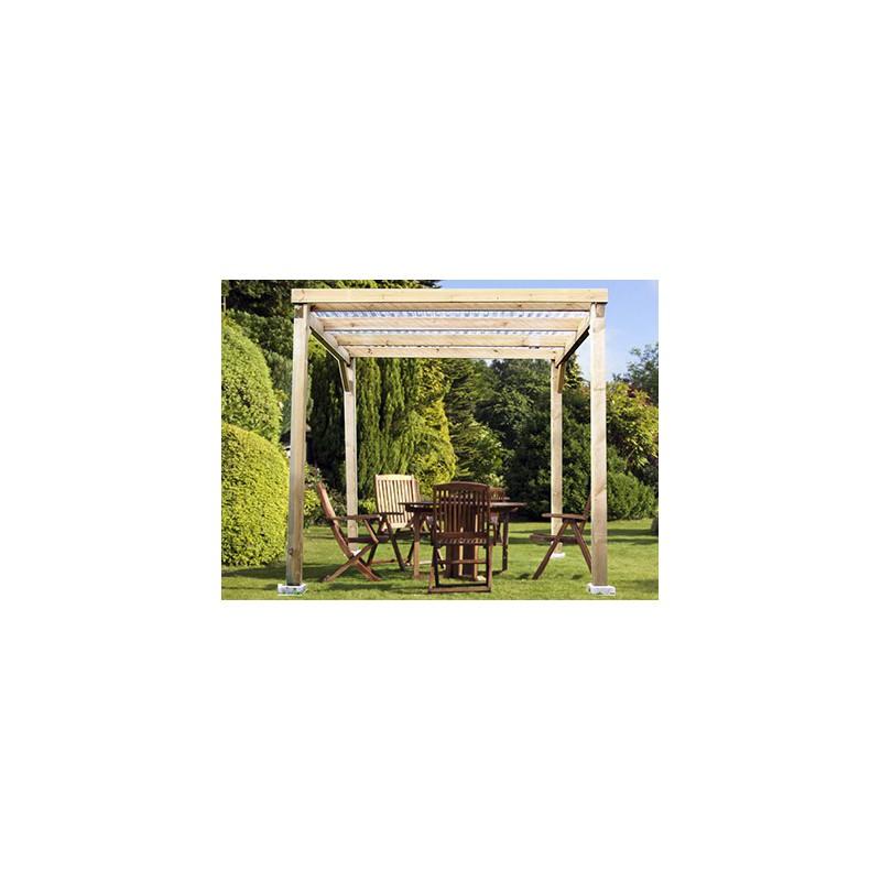 ABRI TERRASSE BOIS 2 x 2 M # Abri Terrasse Bois