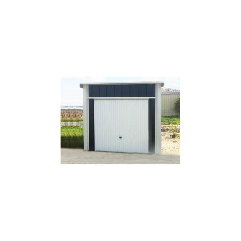 garage metal 3x5m un portail une pente et une couverture en acier galvanis. Black Bedroom Furniture Sets. Home Design Ideas