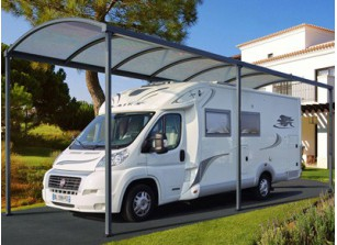 abri camping car carport pour v hicule de loisirs. Black Bedroom Furniture Sets. Home Design Ideas