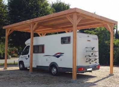 abri camping car bois douglas toit plat. Black Bedroom Furniture Sets. Home Design Ideas