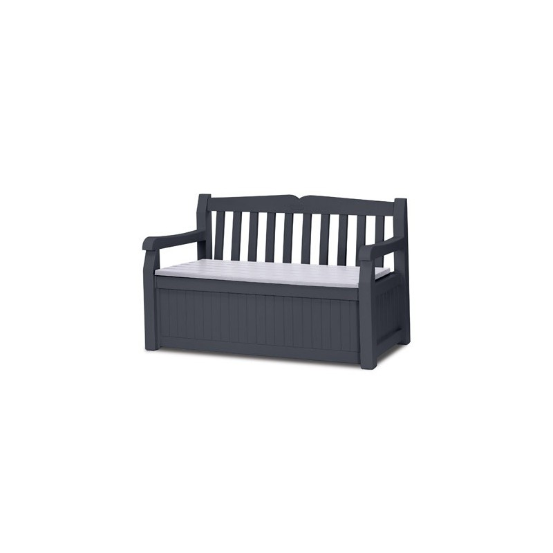 banc de jardin en pvc avec coffre rangement. Black Bedroom Furniture Sets. Home Design Ideas
