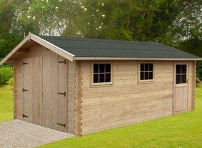 Un garage en bois qui conjugue prix et qualit blog for Garage prefabrique bois prix