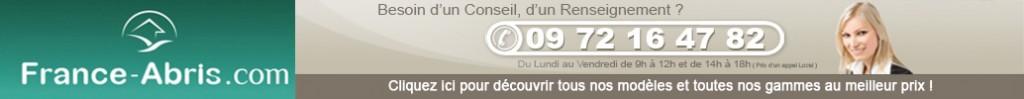 Numéro de téléphone France Abris contact pour passer commande