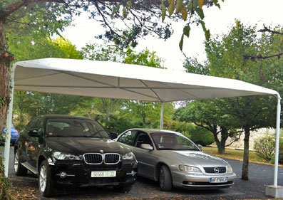 L abri de voiture en toile la simplicit incarn e blog conseil abri jardin garage carport - Abri jardin en toile metz ...