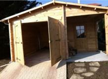 Garage en bois et atelier installé