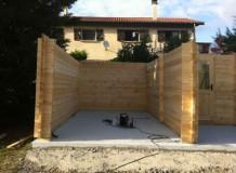 Madriers garage en bois