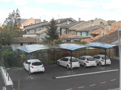 Carports parking pour des hôpitaux