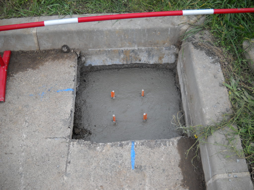 Installation plot béton