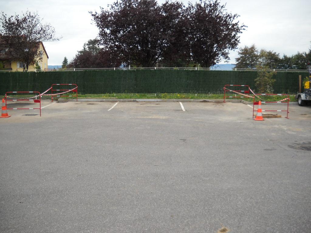 Installation plot béton parking
