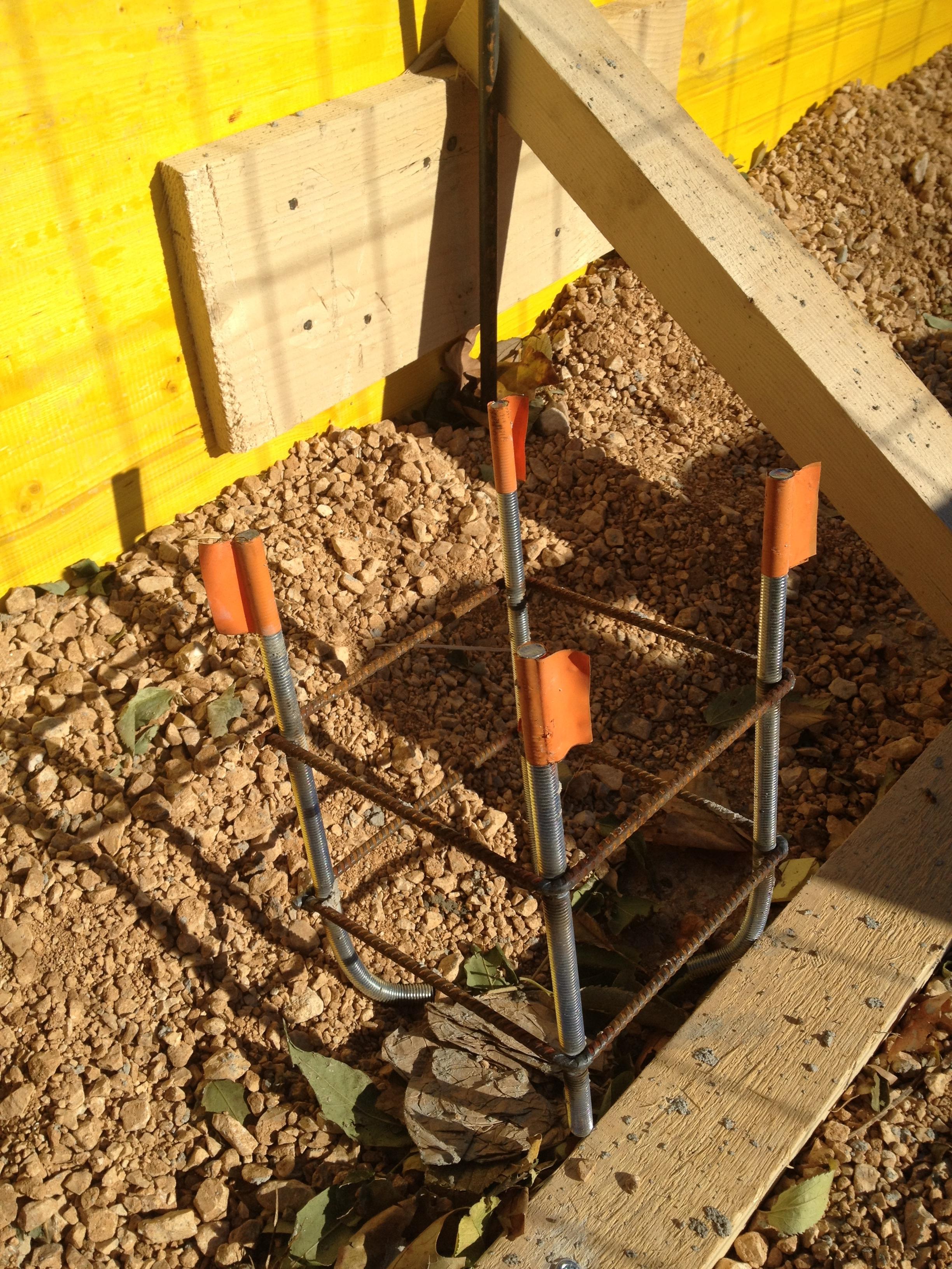 Paniers métalliques pour la dalle béton