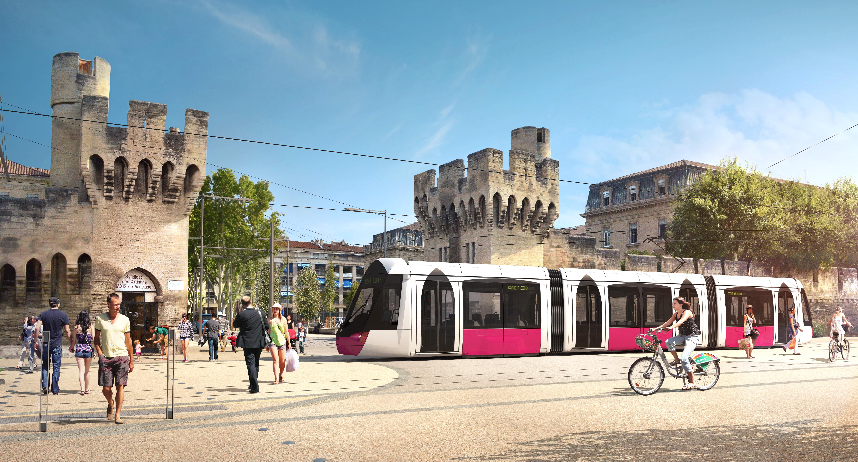 Perspective du tramway d'Avignon