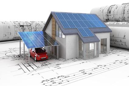 Des panneaux photovoltaïques pour un abri voiture écolo