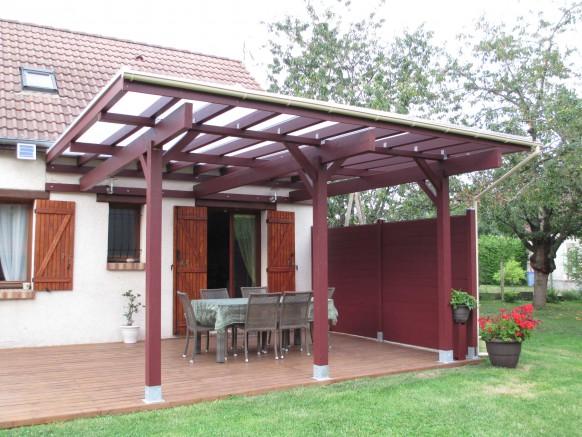 l abri terrasse en bois l esth tisme au rendez vous pour. Black Bedroom Furniture Sets. Home Design Ideas